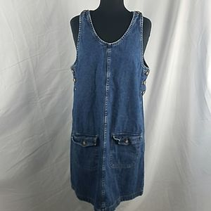 French Dressing Jean Jumper Dress Size 14